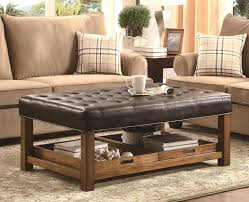ottoman inspiration modern wood coffee table reclaimed metal mid century round natural diy padded large leather
