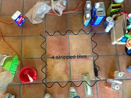 dusty coyote stripping and sealing a saltillo tile floor this zep heavy duty floor stripper is the only floor stripper home depot s it for about 10