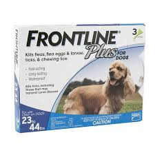 frontline plus ingredients. 3 Pack Frontline Plus Blue Flea Treatment For Dogs 23-44 Lbs At Ryan\u0027s Pet Ingredients