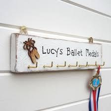 personalised ballet medal hanger