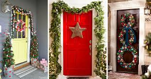 holiday door decorating ideas. Holiday Door Decorating Ideas 50 Best Christmas Decorations For 2018 Holiday Door Decorating Ideas