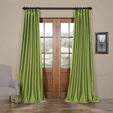 single panel curtain. Fern Faux Silk Taffeta Single Panel Curtain, 50 X 120 Curtain R