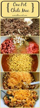 easy home cooked dinner ideas. if you love 30 minute meals that require one pot for clean up, then must try this easy and hearty one pot chili mac. a good home cooked weeknight meal! dinner ideas y