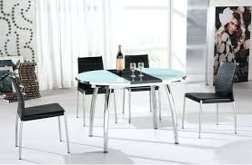 Expandable Glass Dining Room Tables Interior Unique Decorating