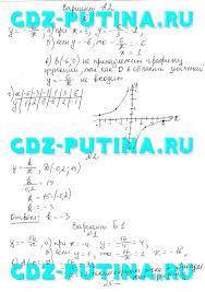 ГДЗ от Путина к самостоятельным и контрольным по алгебре  Обратная пропорциональность и ее график123456 К 2 Рациональные дроби12345678 Квадратные корни С 7 Арифметический квадратный корень123456