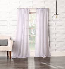 918 tayla crushed sheer voile rod pocket curtain panel 50 x 63 gray home kitchen