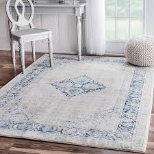 nuloom vintage flower medallion light blue area rug 8u0026x27 x 10u0026 light blue area rug30 rug