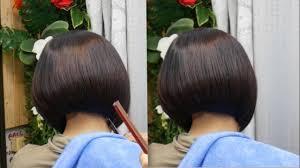 Bob Haircut Tutorial ตดผมบอบ สน ปลายงมด ทย ทย