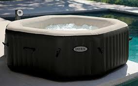 2 intex octagon purespa jet bubble deluxe portable hot tub