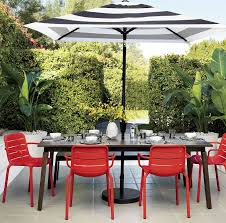 white patio furniture. View In Gallery Striped Umbrella From CB2 White Patio Furniture U