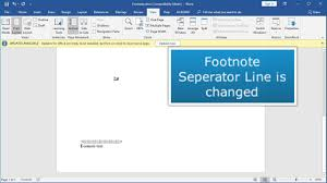 Change Or Remove The Footnote Separator Line Using Microsoft Word Endnote Separator Line