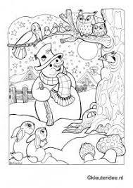 Small Picture 79 best Thema winter kleurplaten voor kleuters Winter coloring