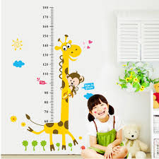 Kids Height Chart Removable Height Chart Measure Wall Sticker Giraffe Decal For Kids Baby Room