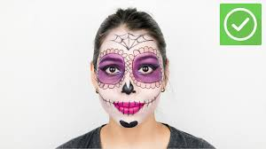 how to apply day of the dead makeup