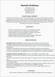 Restaurant Owner Resume Elegant Professional Franchise Owner