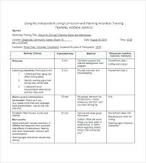 Agenda Template Word 2013 Training Agenda Template 8 Free Word Excel Format Download