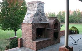 outdoor pizza oven fireplace