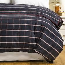 bambeco oxford windowpane flannel duvet cover full queen