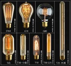 retro handmade modern touch edison style antique filament led bulbs glass material classic contemporary home decor