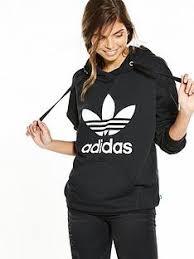 adidas hoodie womens. adidas originals oversize trefoil hoodie womens