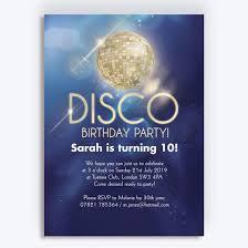 Childrens Disco Invitations Disco Party Birthday Invitation