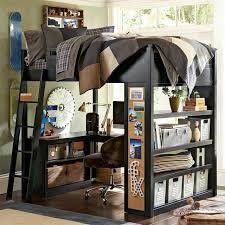 For the kids: homework and sleep under one roof. Having a loft bed with a  desk ...