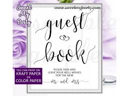 Wedding Guest Book Sign Printable Please Sign Our Guest Book Sign