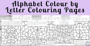 Letter a is a first letter in the english alphabet. Alphabet Colour By Letter Colouring Pages Simple Living Creative Learning