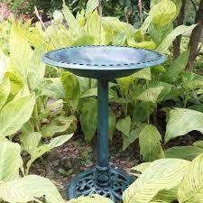 vivohome antique polyresin green garden