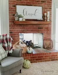dirty and dated 80 s brick fireplace diybeautify com