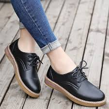 leather oxford shoes women flats 2017 fashion women shoes casual moccasins loafers las shoes sapatilhas zapatos mujer