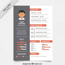 Graphic Resume Templates Interesting Graphic Designer Resume Template Vector Free Download