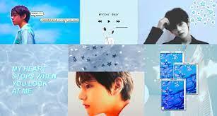Taehyung Light Blue Aesthetic Wallpaper ...