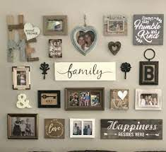 rustic gallery wall family wall decor