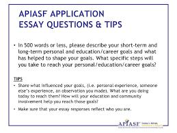 Describe Your Higher Education Goals Essay Wosl Scholarship