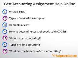 cost accounting assignment help for finance students what is cost according to our cost accounting help