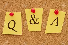 q a questions and answers three yellow notes on a cork board q a questions and answers three yellow notes on a cork board the word