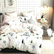 forest bedding forest bedding set brief trees cotton fabric queen twin size duvet cover green bed