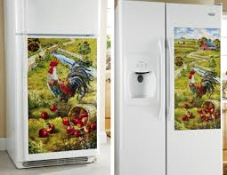 refrigerator magnet cover. rooster refrigerator magnet cover g