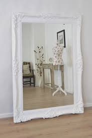 Large White Antique Shab Chic Ornate Wall Mirror 6ft X 4ft Pertaining To Shabby  Chic Free