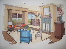 Marker Rendering Interior Design Interior Design Marker Rendering Interior Design Drawings