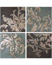 winsome design damask wall art elegant get this amazing shopping deal on uttermost relief blocks 4 piece set canvas decals stickers on 4 piece wall art set with winsome design damask wall art elegant get this amazing shopping