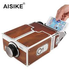 best quality whole diy mobile phone projector portable cinema mini cardboard smartphone projector 2 0 home theatre for android ios smartphone yd051 at