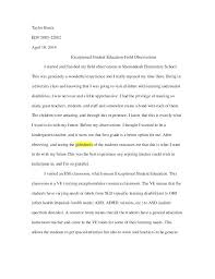 Example Of An Observation Essay Observation Report Format Essay On Field Observations 1