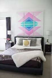 Small Picture Geometric Triangle Wall Paint Design Idea with Tape Triangle