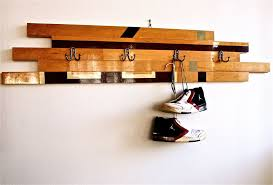 Wall Coat Rack Ideas Fascinating Interesting Unique Coat Hook With Pallet Wooden Board And White Wall