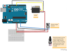 a scheme that shows how to wire the micro servo motor sg90 to an arduino uno