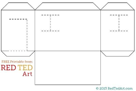 Design Your Own House Paper House Printable Red Ted Arts Blog