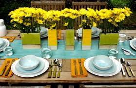 Party Table Decor Wonderful Dinner Party Table Decoration Ideas With Cutlery Set