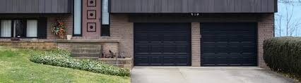 O  SteelColonialBlack Steel Garage Door